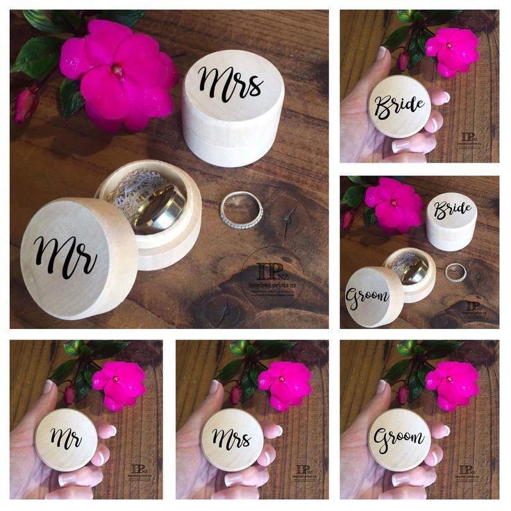 Personalised Wedding Ring Boxes