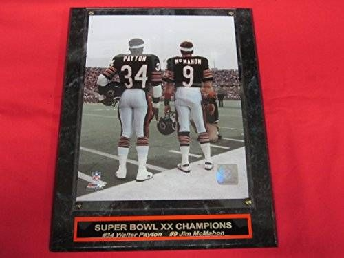 awesome Walter Payton Jim McMahon Chicago Bears Collector Plaque w/8x10 Photo BEST SELLER