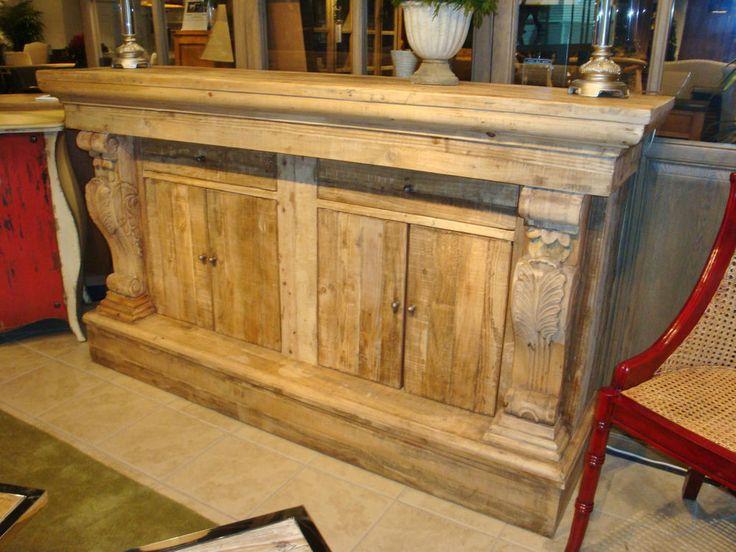 Trocadero Pine Server Reclaimed Restoration Narrow Sideboard Buffet Console  FC