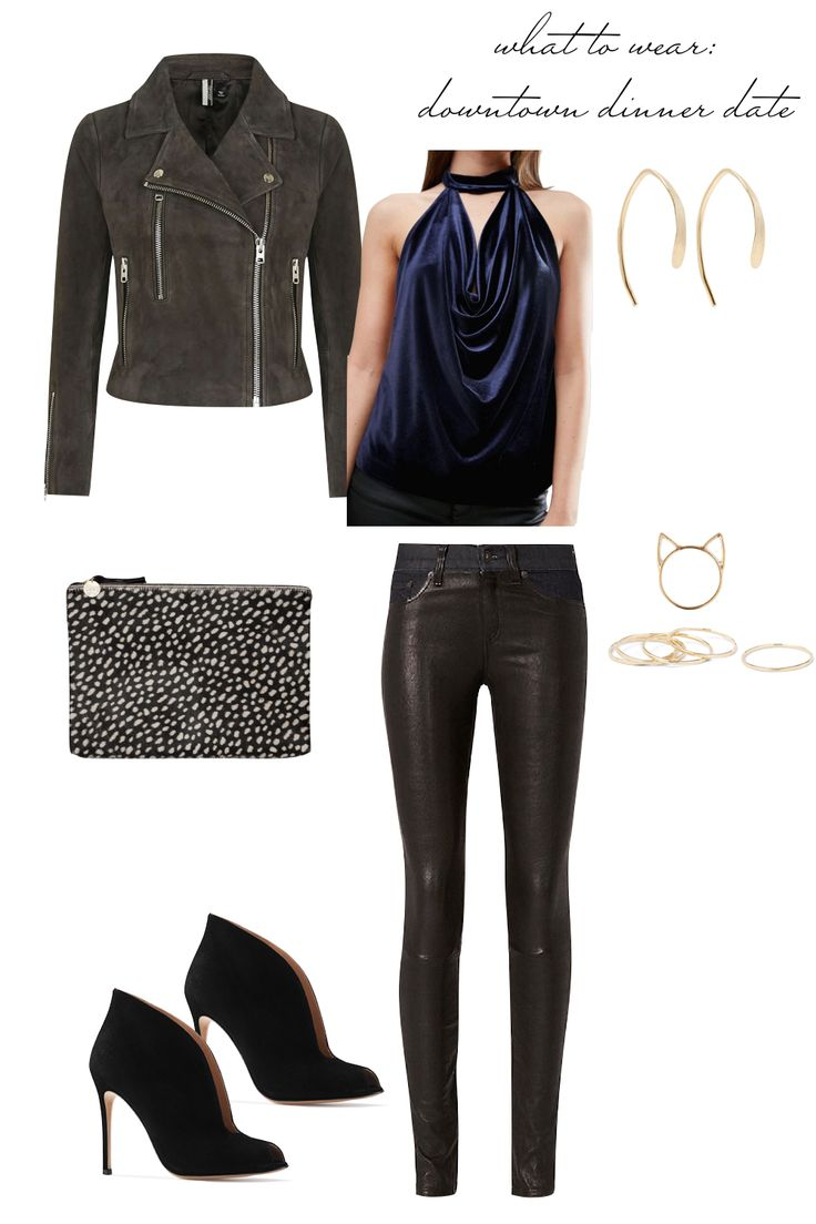 Date Night Outfit Ideas - What to Wear to a Downtown Dinner Date! Emily Holmes Hahn, Last First NYC - for The Stripe Blog