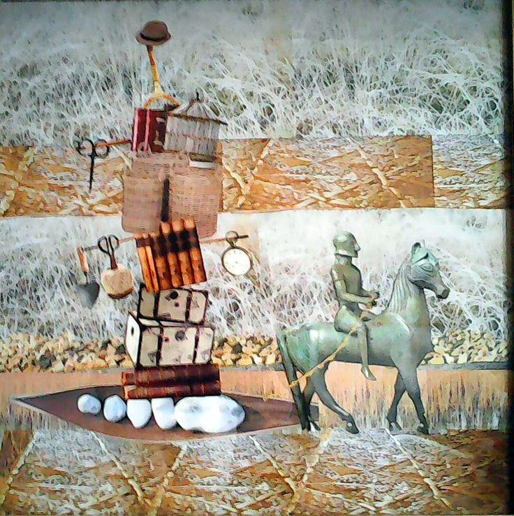 Náklad koláž 50 x 50 cm by Jana Černochová