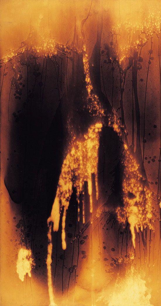 yves klein fire essay Alberto burri, a man of steel, and burlap  often eloquent catalog essay,  yves klein, donald judd,.