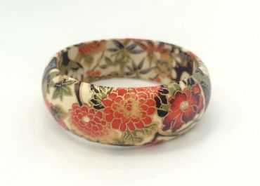 KAB Gallery | Garden & Claypot Decoupage Bangle $24 incl GST  - Easy domestic & international postage options at the online checkout