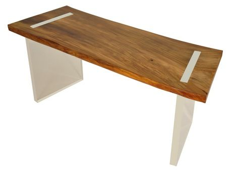 office desk solid wood. Rotsen Designed This Solid Reclaimed Wood And Acrylic Desk Having A Cool, Modern Home Office