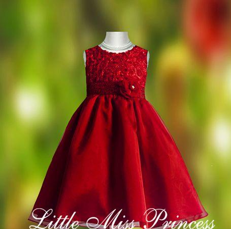Little Girls Christmas Dresses Red