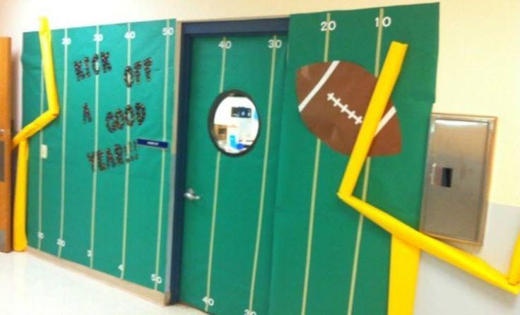 Kick Off A Good Year Football Bulletin Board Idea