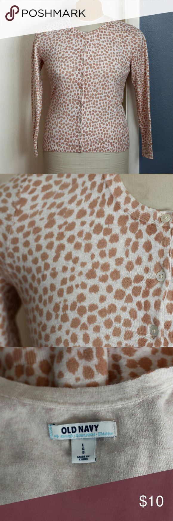 Old Navy Giraffe Print Cardigan - Large So cute! Giraffe print cardigan by Old Navy.  It's a bit pilly, but in overall good condition. Old Navy Sweaters Cardigans