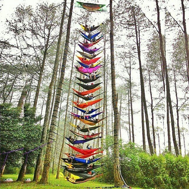 The World's Tallest Hammock Tower! Bandung, Indonesia Photography by @raisarhmh Xploration_nation indonesia