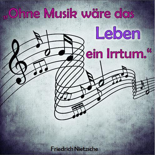 Ohne Musik wäre das Leben ein Irrtum. Friedrich Nietzsche #Zitat #Musik #24Care – 24Care – Einfach schöne Haut