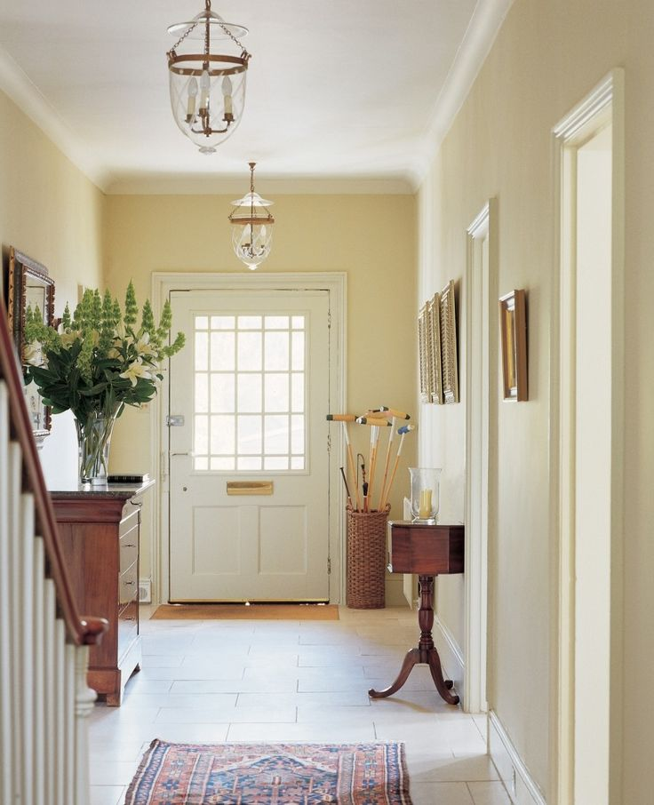 Think of hallways as palate cleansers -- the sorbet that's served before diving in to the next course. Keeping them neutral allows you to branch into any color in rooms that flow off them.