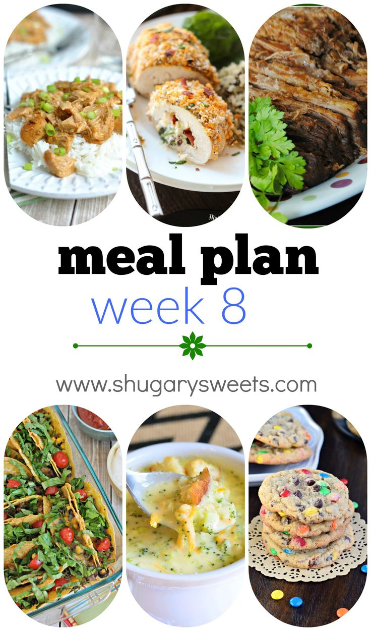 11 best Weekly Meal Plan images on Pinterest | Meal ideas, Weekly ...