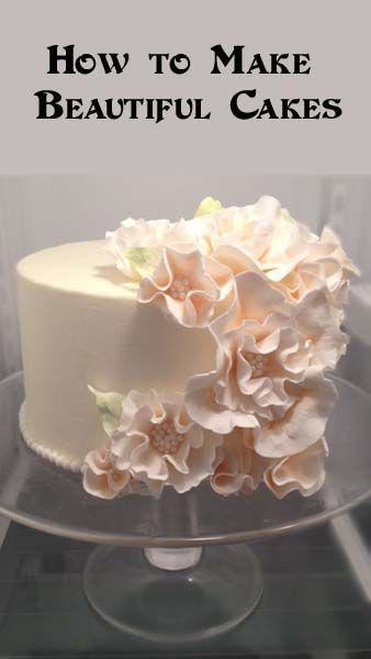 Peach Ruffle- how to make beautiful cakes