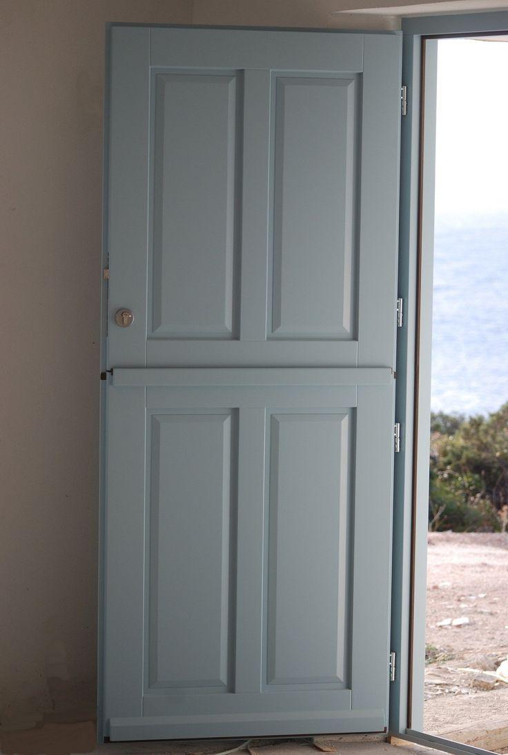 Door made by Accoya wood Paros island Greece