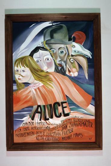 Něco z Alenky plakát Ger.