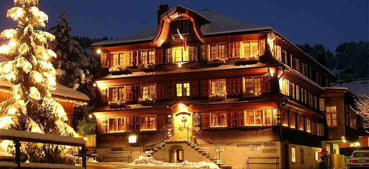 Historic hotel & restaurant Gasthof Hirschen in Vorarlberg's Bregenzerwald region