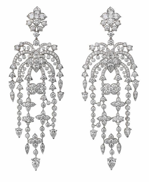 Just amazing! Cartier diamond waterfall earrings~