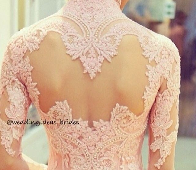 Beautiful lace detail wedding dress