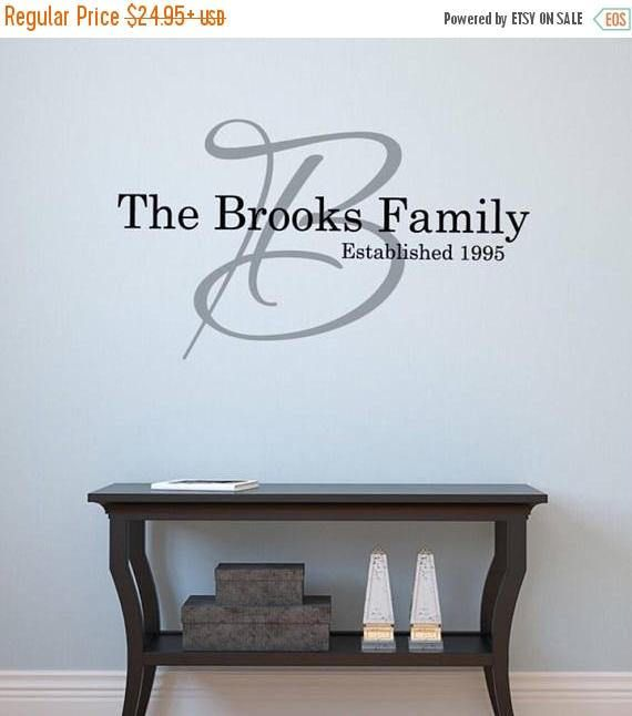 Family Monogram Names Wall Decal LARGE Wall Decal | Family Names Wall Decal | Family Monogram wall decal personalized | Alphabet Garden M243 We make em BIG! We are a cut above the rest! We offer much larger sizes, so look as good as they do in the picture! CHECKOUT NOTES PLEASE