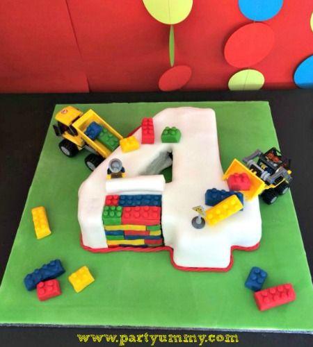 Tuto pas à pas en photos pour réaliser un Gateau Lego facile avec briques et sans moule.