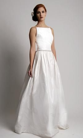 OMG SO PLAIN AND YET SO ELEGANTLY STUNNING !!!!  Elizabeth St. John JOSEPHINE: buy this dress for a fraction of the salon price on PreOwnedWeddingDresses.com