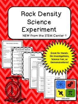 """RocksThe """"Rocks Density"""" Laboratory provides a written laboratory detailing the question, materials list, and procedure for a student to investigate how different rocks possess different densities. In addition to the written lab, you are provided the step by step guide to the scientific method, a fill in the blank lab report (question, research, hypothesis, planning or procedure, record sheet, and conclusion), fact sheet, data sheet, and reflection sheet.All science teachers are looking for…"""