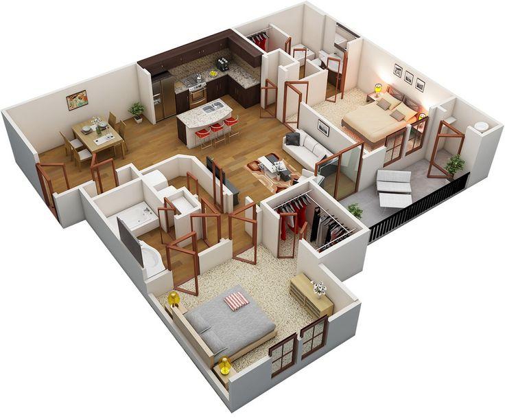 52 best Floor Plans!! (3BHK) images on Pinterest Bedroom - best of building blueprint software free download