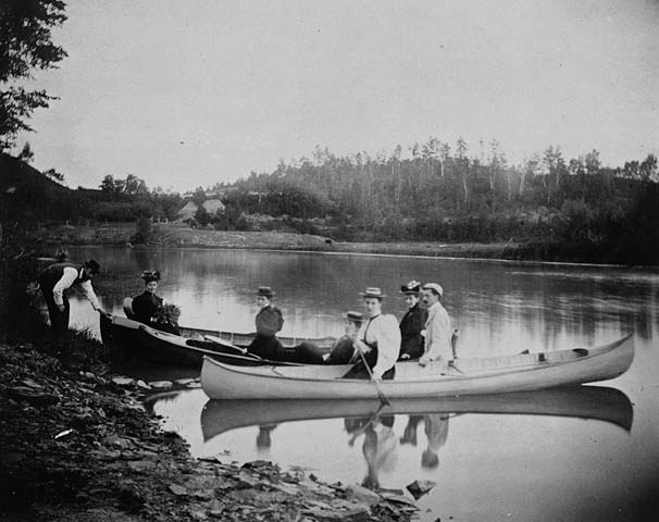 Canoe excursion on the Humber River, June 4, 1896 / Excursion en canot sur la rivière Humber, le 4 juin 1896 | by BiblioArchives / LibraryArchives