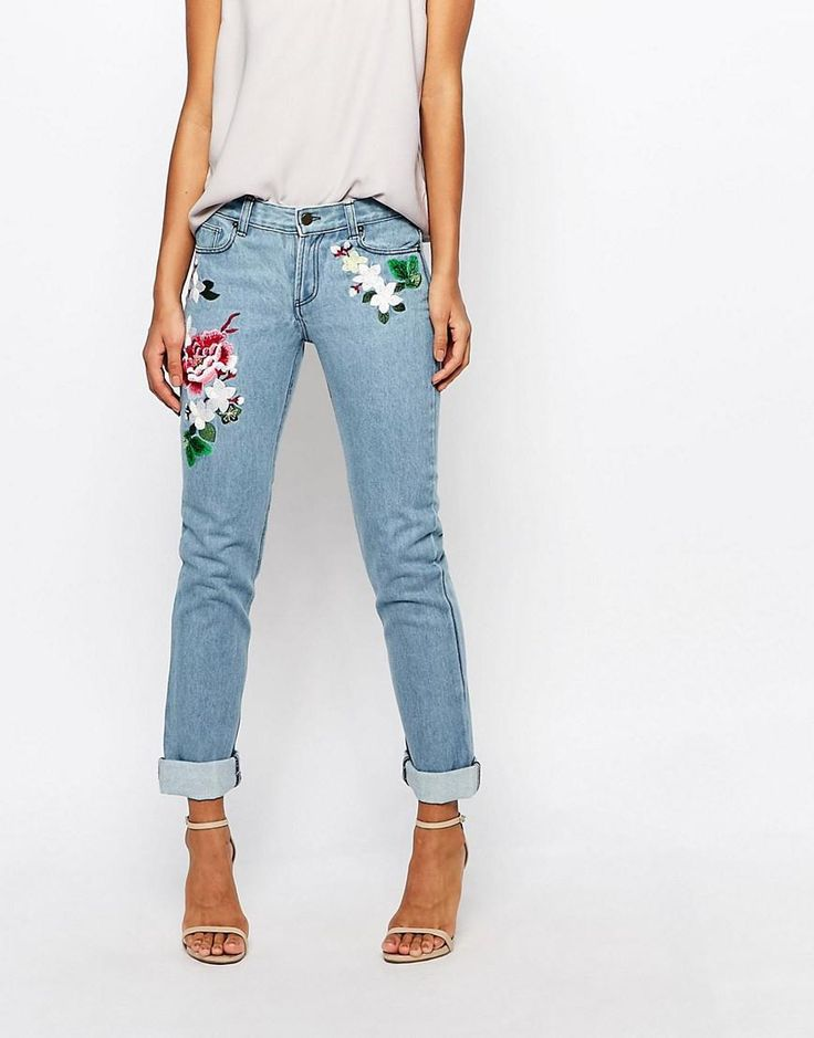 French Connection | French Connection Dionne Embroidered Boyfriend Jeans at ASOS