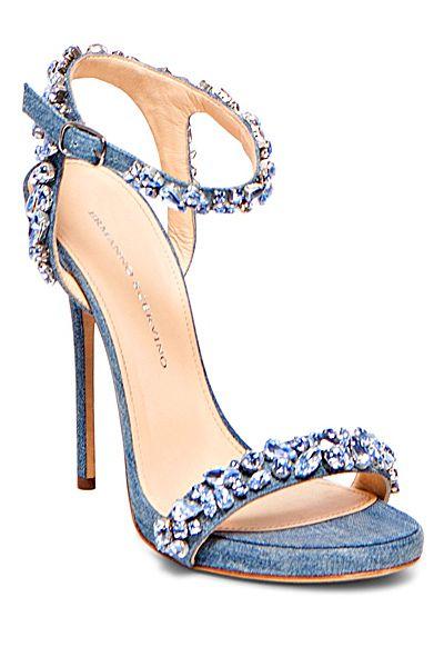 ♔ Ermanno Scervino - Women's Accessories - 2014 Spring-Summer <3        Denim shoes