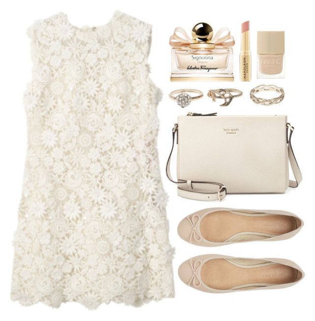 """""""Untitled #3773"""" by natalyasidunova ❤ liked on Polyvore featuring Witchery, Wet Seal, Kate Spade, Salvatore Ferragamo, Napoleon Perdis and Nails Inc."""