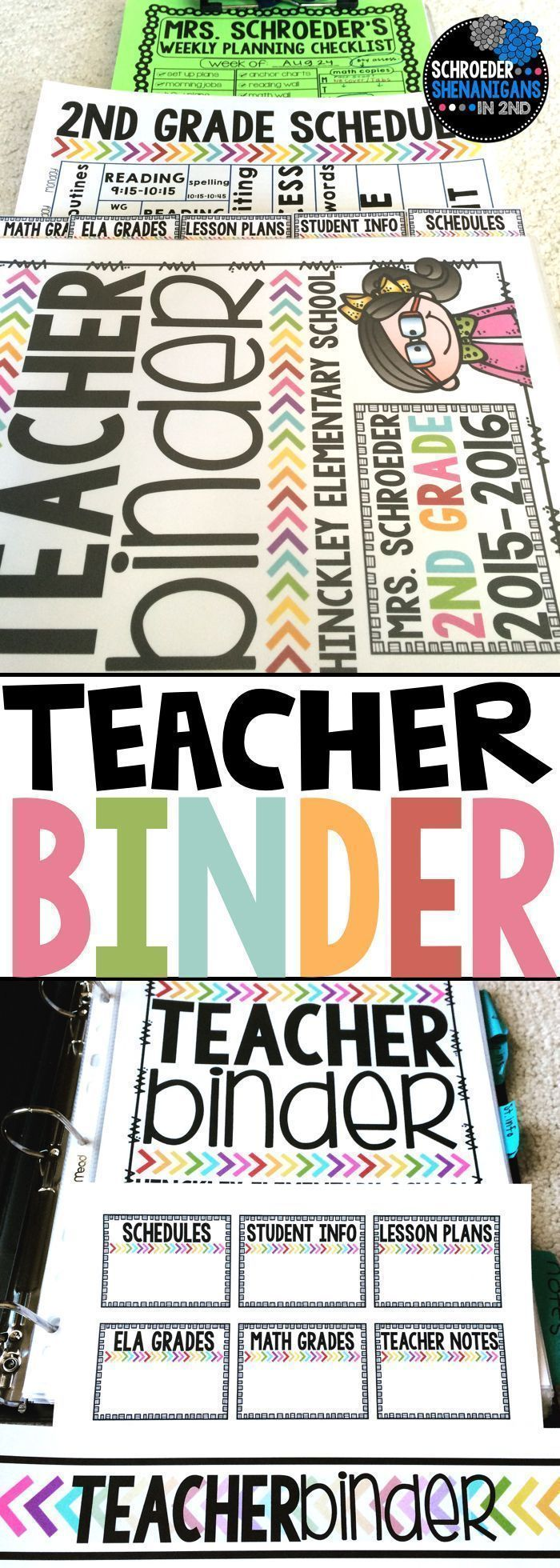 Back to school teacher binder: Organize yourself for back to school with this editable teacher binder that includes dismissal lists, schedule templates, birthday lists, binder covers, tabs, newsletter template, and more!