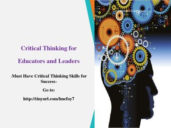 Professional Development in Critical Thinking PR Newswire     critical thinking tools for taking charge of your professional and  personal life