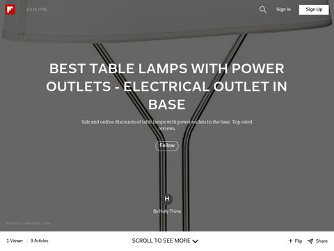 Amazing  Desk LampPower Outlet Hotel Table LampsBeside Lamps With Electrical