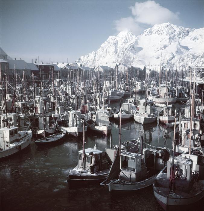 #Capa in Color  1951. Norway • Henningsvaer Harbor, Lofoten Islands http://www.magnumphotos.com/C.aspx?VP3=SearchResult&VBID=2K1HZOLGUVJNCT&SMLS=1&RW=1536&RH=794…