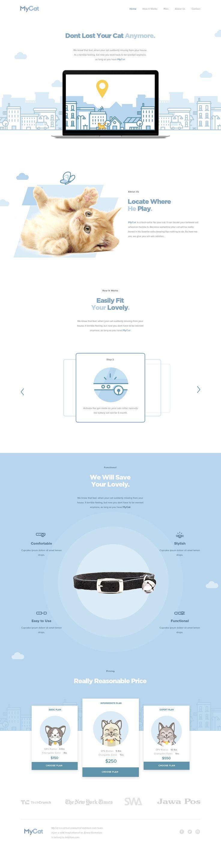 MyCat - Free Landing Page