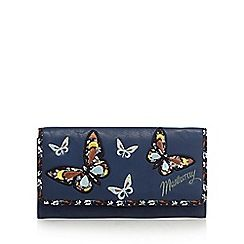 Mantaray - Navy butterfly applique large purse