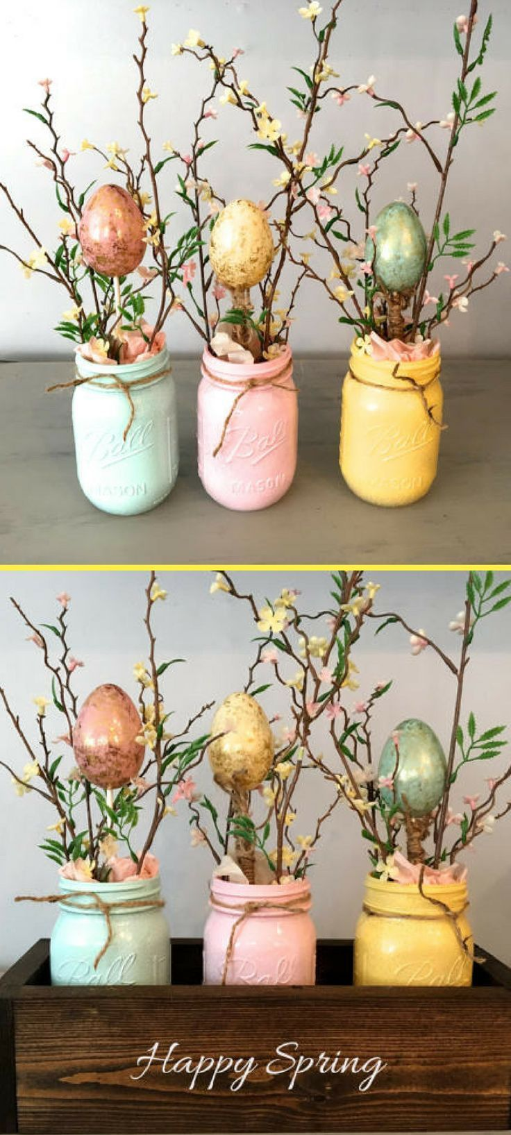 Wie süß! Liebe, dass die Box personalisiert werden kann. Fröhlichen Frühling. Frohe Ostern. Anders – Holz Tisch