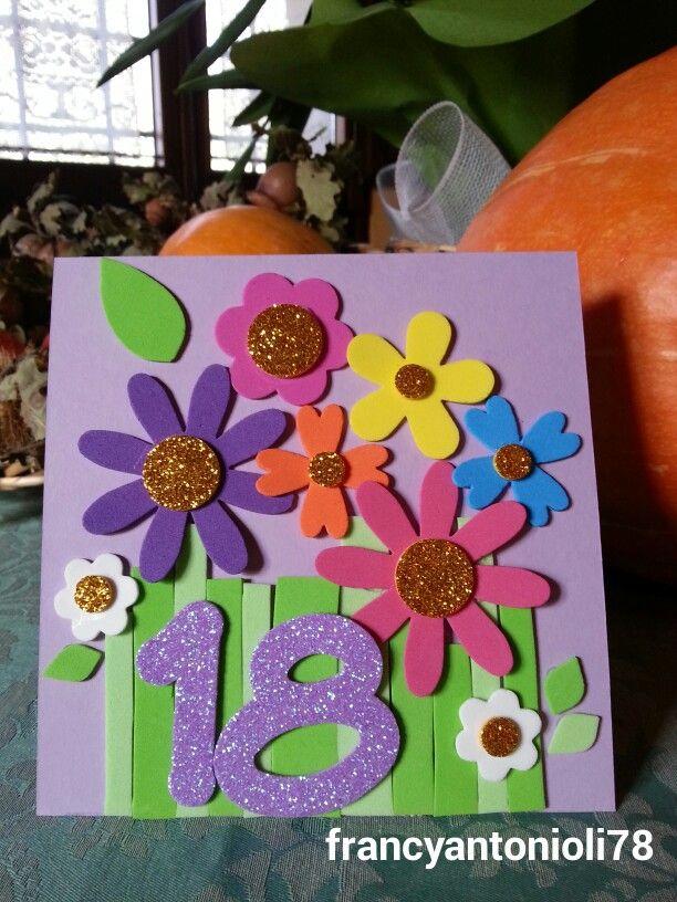 Sweet 18! B-day card for girl!