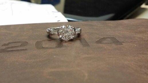 Two shoulder tapper diamonds