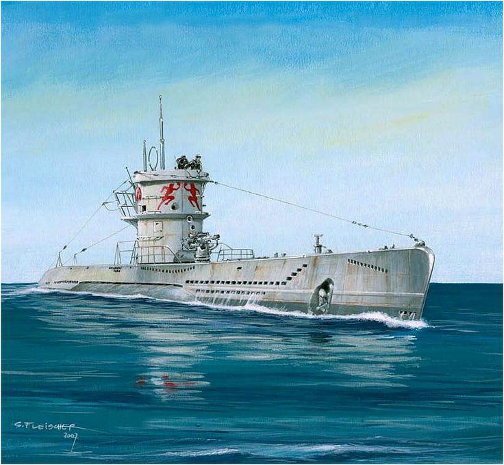 "U-Boat Type VII. U-552 is the 'Der Rote Teufel ""(Red Devil - Red Devil)…"