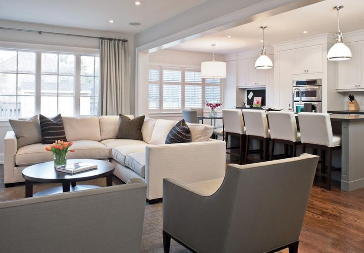 Whoa Dream Kitchen And Living Room In One Grey White