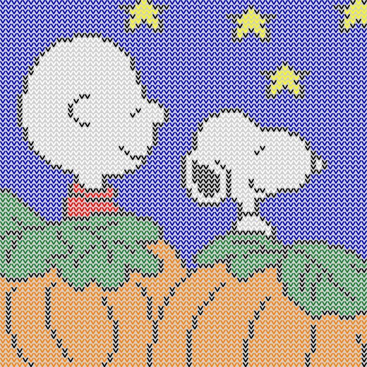 Charlie Brown and Snoopy waiting for The Great Pumpkin