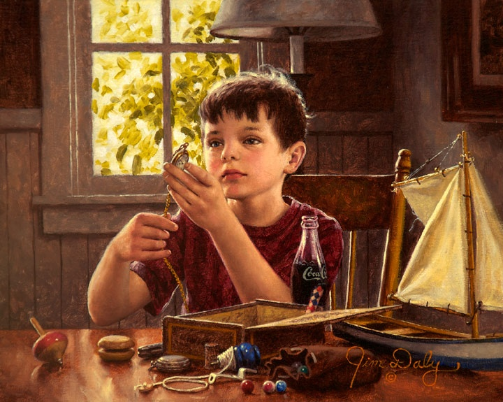 The art of Jim Daly.  An artist whose work in painting children is outstanding.  His work depicts the life of childhood in early to mid 1900's.