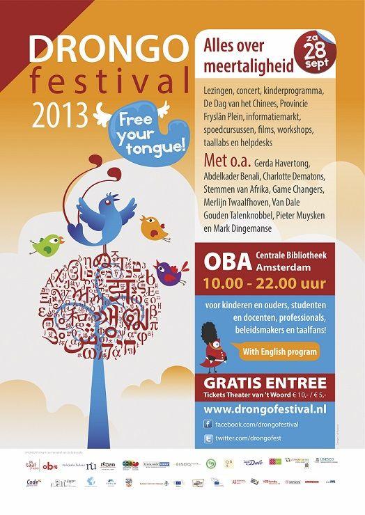 Drongo Festival: festival over meertaligheid in Amsterdam voor kinderen, ouders, leerkrachten, begeleiders en alle geïnteresseerden