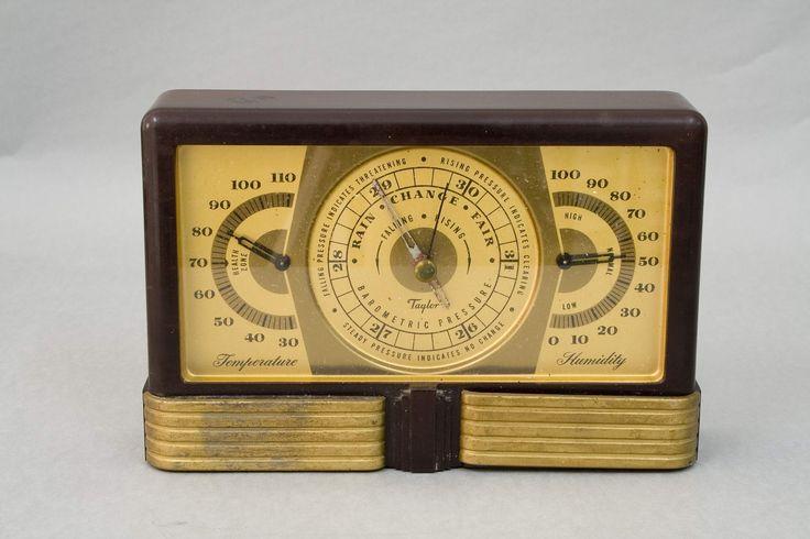 Barómetro manufacturado por Taylor Instrument Companies en la década de los años 30
