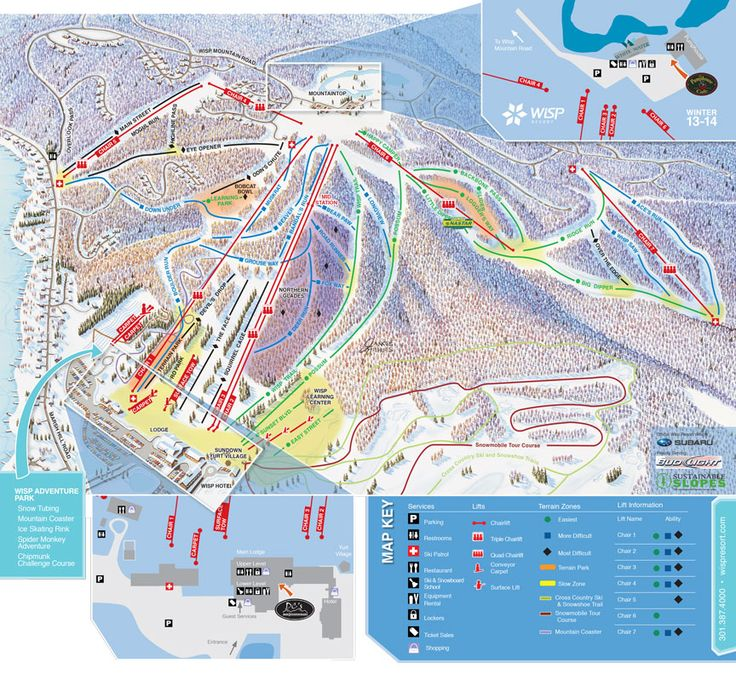 Wisp Resort Trail Map - 700 vert.