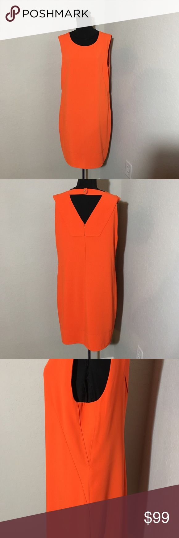 "Laundry by Shelli Segal Sheath Dress w/ Cutout 12 Laundry by Shelli Segal Sheath Dress w/ Cutout Amazing out of stock on every website!! Orange Laundry by Shelli Segal Sheath Dress with Cutout back!!! Perfect condition! Size 12. Hidden zipper in the back and gold button closure. 20"" armpit to armpit (laying flat), 36"" shoulder to hem, 19"" waist (laying flat). Laundry by Shelli Segal Dresses"