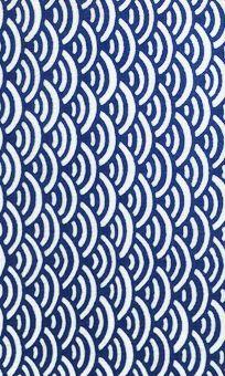 """""""blue sea"""" 青海波。無限に広がる吉祥。"""