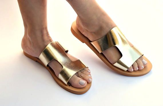 leather sandals  womens sandals  wide straps  by FEDRAinspirations