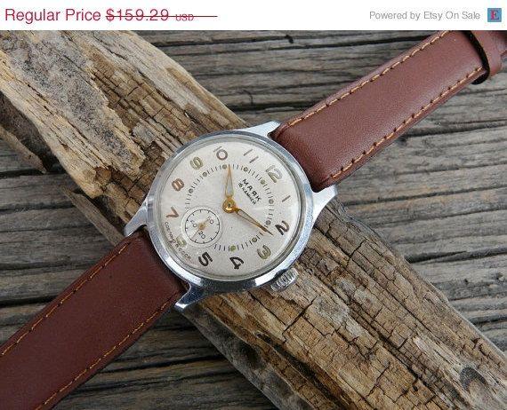 20 off Rare USSR Men's Watch Maiak Maяк 1950's by RetroWatch, $127.43